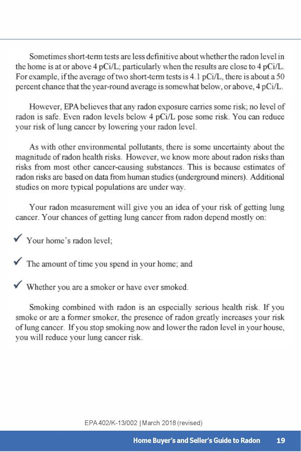 EPA Guide to Radon p.23