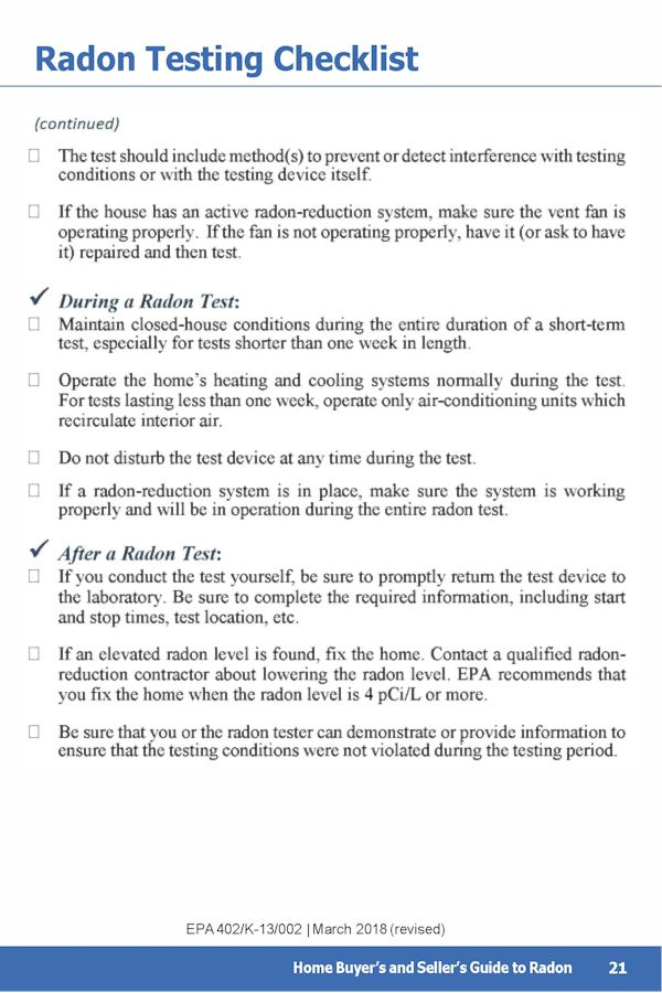 EPA Guide to Radon p.25