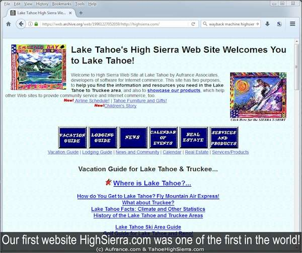 HighSierra.com was one of the first in the world