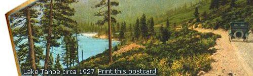North Lake Tahoe antique postcard